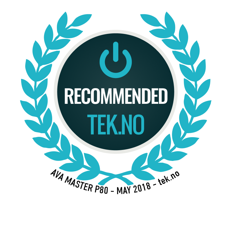 P80 Master Recommended by Tek.no 2018